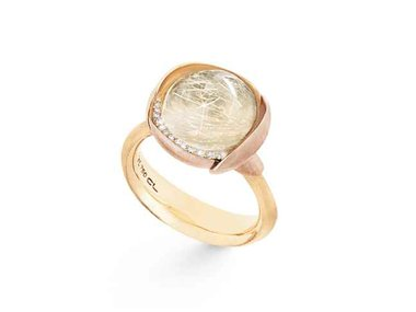 Ole Lynggaard | Lotus ring size 3 - Rutile quartz