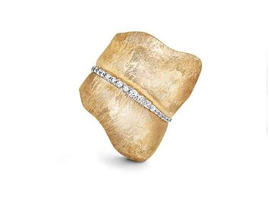 Ole Lynggaard | Leaves ring - Large with diamonds