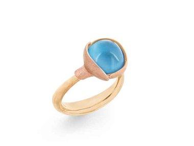 Ole Lynggaard | Lotus ring size 2 - Sky blue topaz