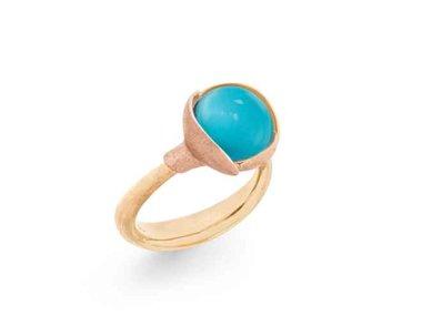 Ole Lynggaard | Lotus ring size 2 - Turquoise