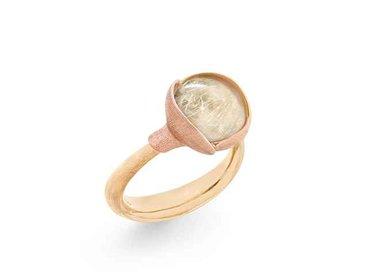 Ole Lynggaard | Lotus ring size 2 - Rutile quartz