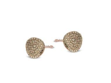 Bigli   Mini Waves earrings - Brown diamond
