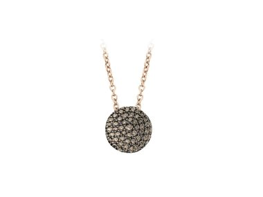 Bigli | Mini Waves necklace - Brown diamond