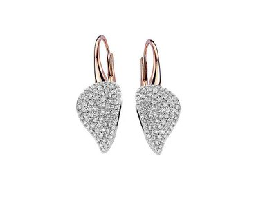 Bigli   Mini Leaves earrings - Diamond