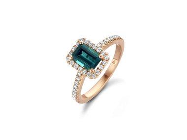 Franssen Collection   Entourage ring - Green tourmaline