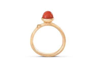 Ole Lynggaard | Lotus 0 ring - Red coral