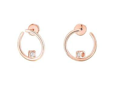 dinh van | Le Cube Diamant hoop earrings