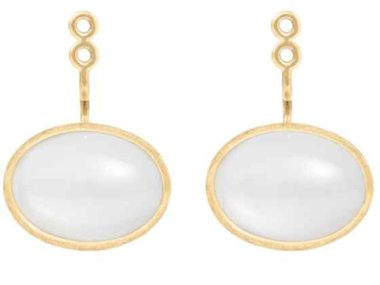 Ole Lynggaard | Lotus pendant for earring - White moonstone