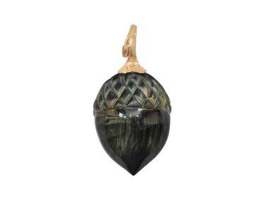 Ole Lynggaard   Acorn pendant - Falcon eye