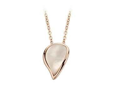 Bigli | Mini Leaves necklace - White mother-of-pearl