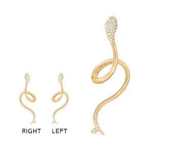 Ole Lynggaard | Snakes earring - Half pavé
