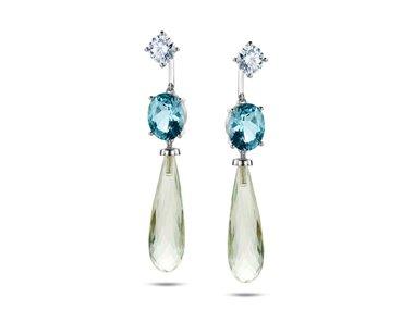 Franssen Collection | Private Island pendants - Aquamarine & Prasiolite