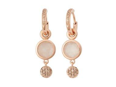 Bron | Sushi pendant for earrings -  White moonstone
