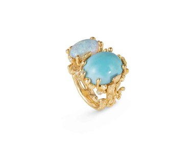 Ole Lynggaard | BoHo ring - Turquoise and opal