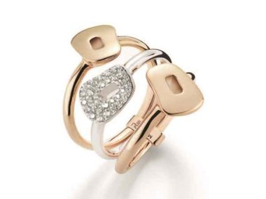 Mattioli | Puzzle ring - 18kt rose & white gold