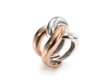 Mattioli | Yin Yang ring - 18kt rose & white gold