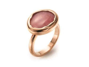Mattioli | Nuvole ring - 18kt rose gold and Rhodonite