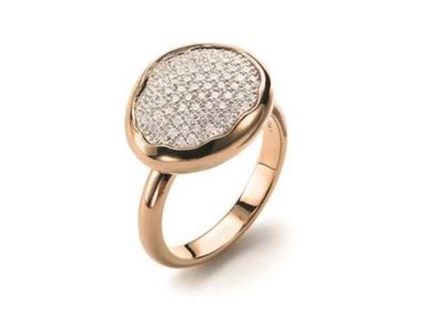 Mattioli | Nuvole ring - 18kt rose gold with white diamonds
