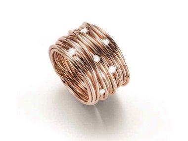 Mattioli | Tibet ring - 18kt rose gold with 0.30ct diamonds