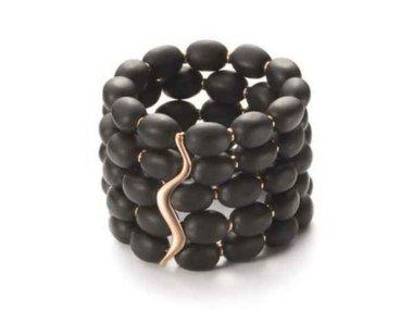 Mattioli | African Queen bracelet - 18kt rose gold & Jet