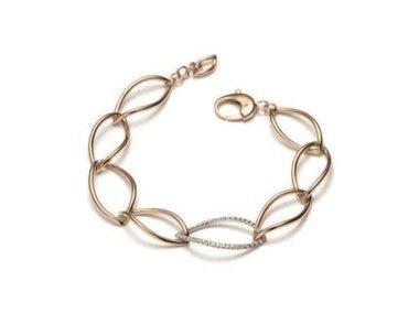 Mattioli | Navettes bracelet - 18kt rose & white gold