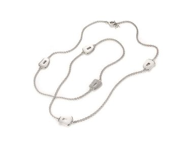 Mattioli | Puzzle channel necklace 90cm - 18kt white gold