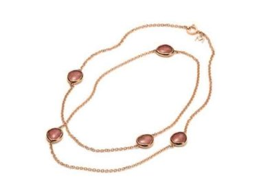 Mattioli | Nuvole channel necklace 90cm - 18kt rose gold