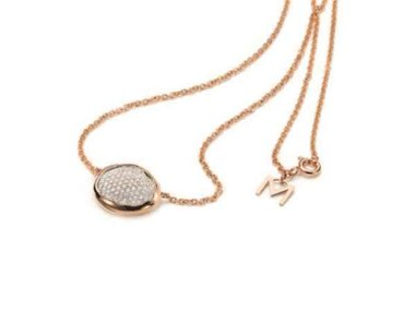 Mattioli | Nuvole pendant and chain 42cm - 18kt rose gold