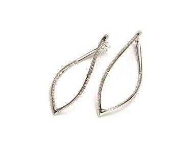 Mattioli | Navettes earrings - 18kt white gold