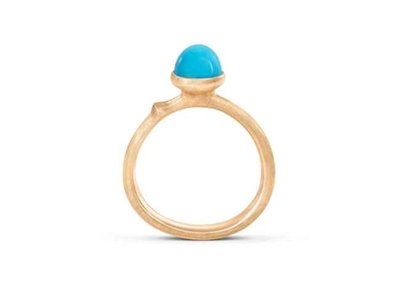 Ole Lynggaard | Lotus ring size 0 - Turquoise